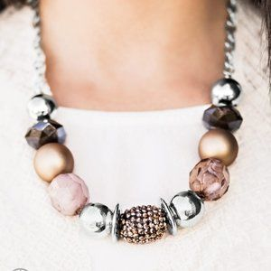 A Warm Welcome, Copper and Brown Necklace Set